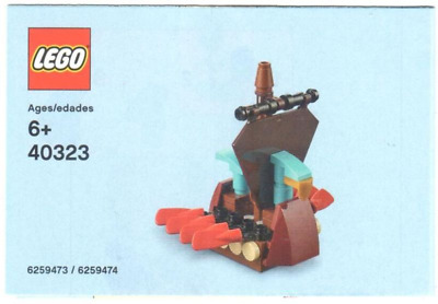 £6.55 • Buy Lego 40323 MICRO VIKING SHIP Polybag March 2019 New & Sealed.NEVER SOLD RETAIL.
