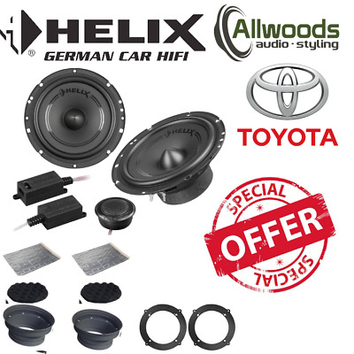 HELIX F 62C 6.5  16.5cm 2 Way Component Car Speakers For Toyota Avensis • 149.99£
