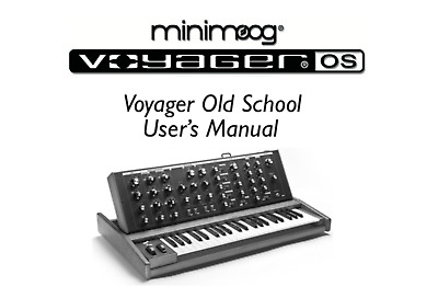 AU17.04 • Buy MOOG VOYAGER Old School User Manual, Repair Techniques, Schematic READ WELL
