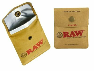 £2.64 • Buy RAW Rolling Papers Pocket Ashtray For Cigarettes Flexible Portable Travel Pouch