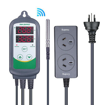 AU62.99 • Buy Inkbird ITC-308 WIFI Digital Temperature Controller Remote Control Thermostat CF