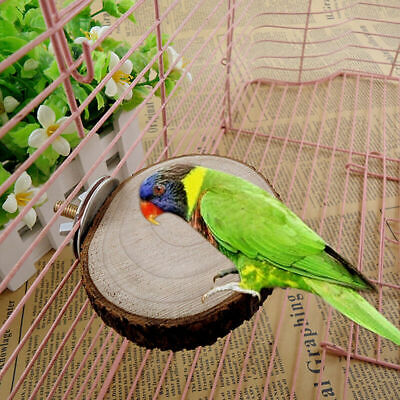 $2.30 • Buy Wooden Round Coin Parrot Bird Cage Perches Stand Platform Pet Budgie Toy  & Gift