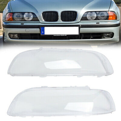 $125.98 • Buy Pair For BMW E39 1996-2000 Front Left+Right Headlight Headlamp Lens Shell Covers