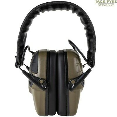 Jack Pyke Electronic Ear Defenders Lightweight Ear Defence Army Hunting Shooting • 56.95£