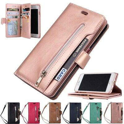 AU13.80 • Buy 9 Cards Wallet Leather Zipper Stand Case Cover For Samsung Galaxy J4 J6 J8 Plus