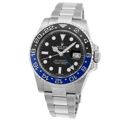 $ CDN20010.89 • Buy ROLEX Stainless Steel GMT Master II BlackBlue Batman Bezel 40mm 116710 Warranty