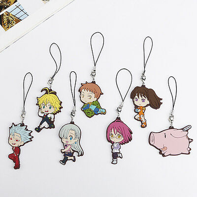 Anime The Seven Deadly Sins Phone Bag Charm Gowther Ban Diane King • 3.79£