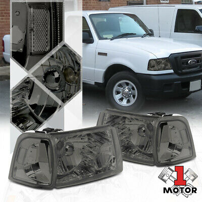$86.88 • Buy Smoke Tinted Headlight Clear Corner Turn Signal Reflector For 01-11 Ford Ranger
