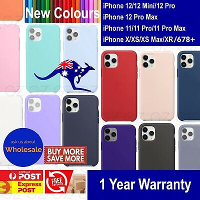 AU9.45 • Buy Premium Silicone Case Cover For IPhone XS MAX X XR 7 8 6 Plus Screen Protector