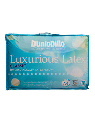 View Details Dunlopillo Talalay Latex Medium Profile Pillow In Classic Feel • 89.95AU