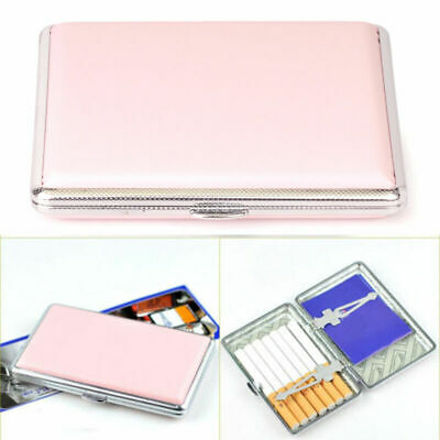 Womens Leather Cigarette Case Box 100's Hold For 14 100mm Cigarettes S • 5.47£