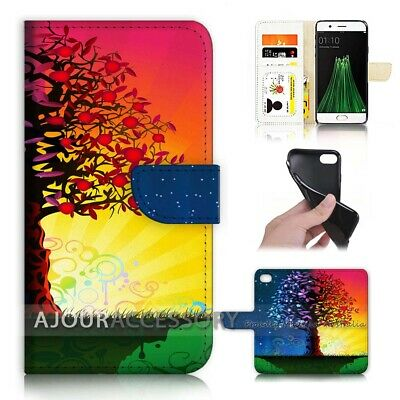 AU12.99 • Buy ( For Oppo A57 ) Wallet Flip Case Cover AJ40200 Life Tree Day Night