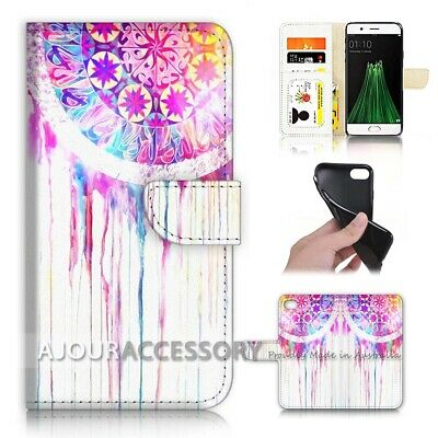 AU12.99 • Buy ( For Oppo A57 ) Wallet Flip Case Cover AJ40079 Mandala Design