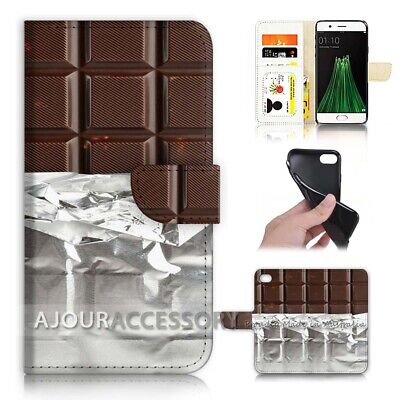 AU12.99 • Buy ( For Oppo A57 ) Wallet Flip Case Cover AJ40145 Chocolate