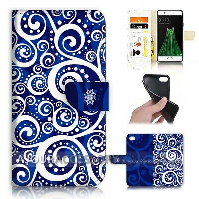 AU12.99 • Buy ( For Oppo A57 ) Wallet Flip Case Cover AJ40153 Abstract Pattern