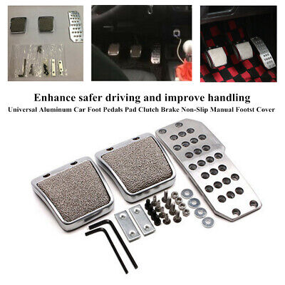 Aluminum Vehicle Foot Pedals Pad Clutch Brake Non-Slip Manual Footst Cover Parts • 25.99$