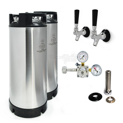 AEB (Cornelius Corny) Beer Kegs 19L Kegerator Conversion Kit With Shanks & Taps • 389.64£