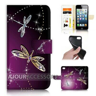 AU12.99 • Buy ( For IPhone 7 Plus ) Wallet Flip Case Cover AJ40232 Bling Dragonfly