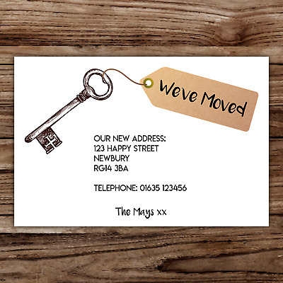 10 *PERSONALISED* Cards NEW HOME Change Of ADDRESS Moving House Incl ENVELOPES • 5.75£