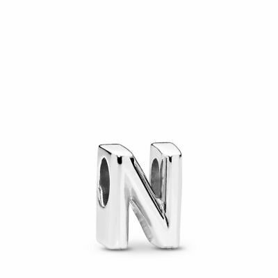 AU33.99 • Buy PANDORA Charm Sterling Silver ALE S925 LETTER INITIAL N 797468