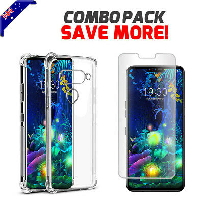 AU10.99 • Buy Crystal Clear Anit Knock Heavy Duty Case Cover For LG G8S V30 Plus V40 V50 ThinQ