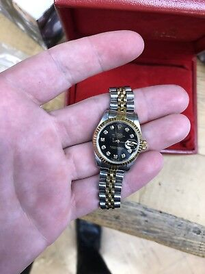 $ CDN5788.50 • Buy Mint Rolex Lady Datejust YG/SS Black Diamond Dial 79173! Box And Papers!