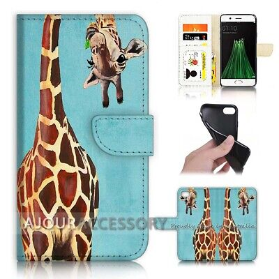 AU12.99 • Buy ( For Oppo A57 ) Wallet Flip Case Cover AJ40600 Giraffe