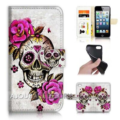 AU12.99 • Buy ( For Huawei Y5 2018 ) Wallet Flip Case Cover AJ40603 Sugar Skull