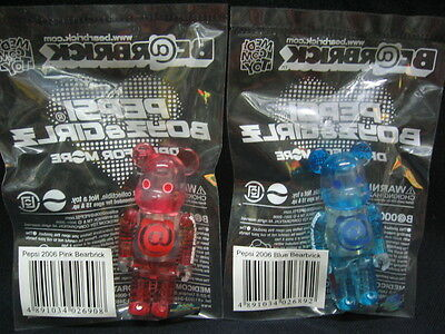 $20 • Buy 2006 MEDICOM 100% BEARBRICK BEaRBRICK Boy & Girl Toy Clot Figure