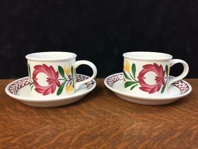 £14.51 • Buy Lot Of 2 Portmeirion Welsh Dresser Drum Cups / Mugs And Saucers Made In Britain