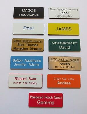 £5.99 • Buy  5 Personalised Name Badges Engraved Acrylic Shop Clubs Pub Schools Offices Work