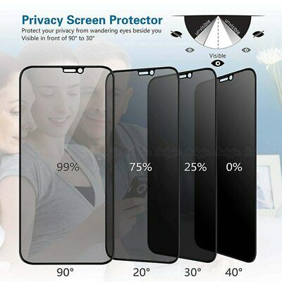 Privacy Tempered Glass Screen Protector For IPhone XS XR XS Max 11 Pro Max Cover • 3.98£