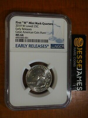 $ CDN25.19 • Buy 2019 W 25c Lowell Quarter Ngc Ms64 Early Releases Great American Coin Hunt