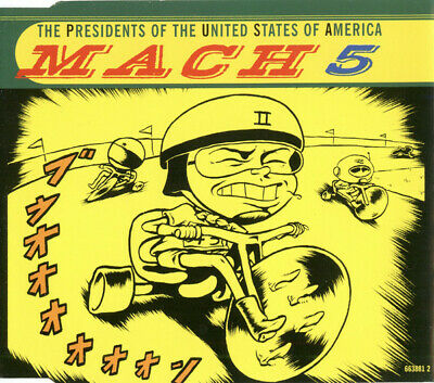 Presidents Of The United States Of America Mach 5 4 Track Cd Single • 1.65£