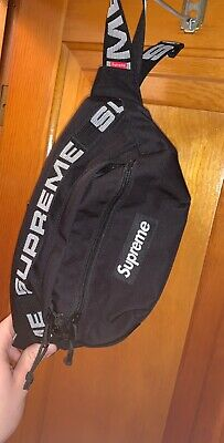 $ CDN373.19 • Buy Supreme SS18 Cordura Waist Shoulder Bag Fanny Pack Black 100% Authentic