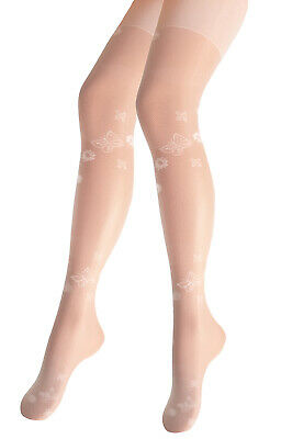 £2.85 • Buy Girls Summer Delicate White Sheer Tights Bridesmaid Special Occasion M13