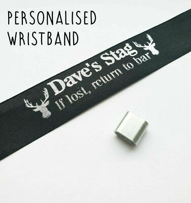 £1.95 • Buy Personalised Stag Do Wristbands - 'If Lost Return To Bar' Stag Head Name Funny