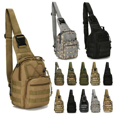 $16.99 • Buy Mens Tactical Military Crossbody Shoulder Bag Chest Pack Camping Hiking Backpack