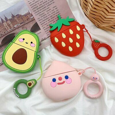 $ CDN3.75 • Buy Fruit Earphone Case Rawberry Peach Earbuds Ring Strap For Apple Airpods Case