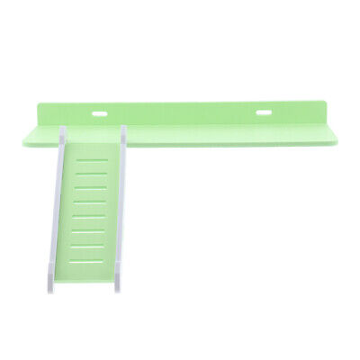 Wooden Platform And Ladder Set For Chinchilla Hamster Climbing Green • 6.85£