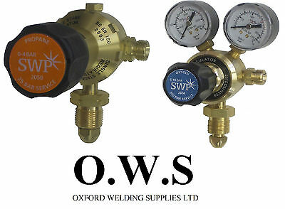 Pair Of OXYGEN And PROPANE Single Stage Regulators For Gas Cylinders • 50£