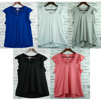 AU19.95 • Buy Womans V-Neck Butterfly Sleeve Ladies Summer Top Viscose Polyester Jersey