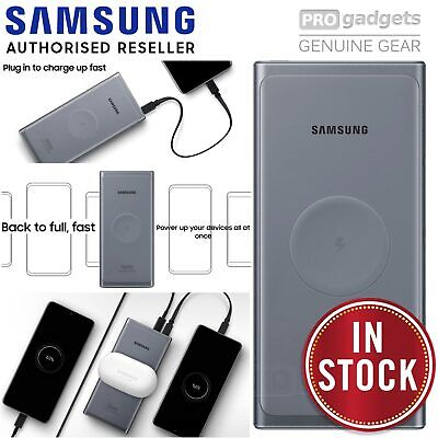 AU82.95 • Buy Genuine Samsung Fast Qi Wireless Battery Pack Charger Power Bank 10000 MAH