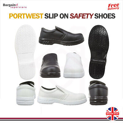 Portwest Slip On Safety Shoes Anti Slip Food Catering Chef Hospital Medical FW81 • 28.24£