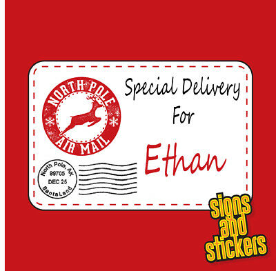 £2.35 • Buy 40 Personalised Christmas Stickers Gift Tags Xmas Parcels Santa Labels Presents