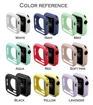 $ CDN2.80 • Buy Full Protective Cover Silicone Soft Case Bumper For Apple Watch Series 4 3 2 1