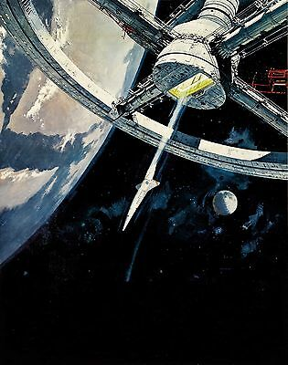 £8.86 • Buy 2001 A Space Odyssey Textless Vintage Movie Poster  Film A4 A3 Art Print Cinema