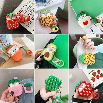 $ CDN6.11 • Buy 3D Cute Fruit Case For Apple AirPods Charging Case Cartoon Silicone Cover Holder