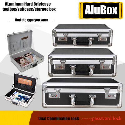 $49.28 • Buy Aluminum Toolboxes Password Mens Briefcase With Foam Instrument Equipment Cases