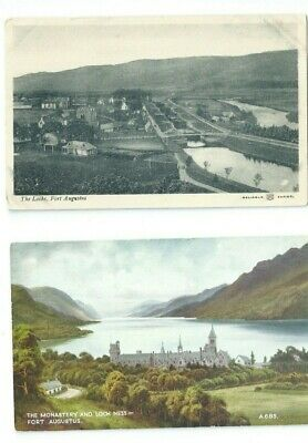 Postcard Collection Fort Augustus Argyll Canal Monastery • 1.25£